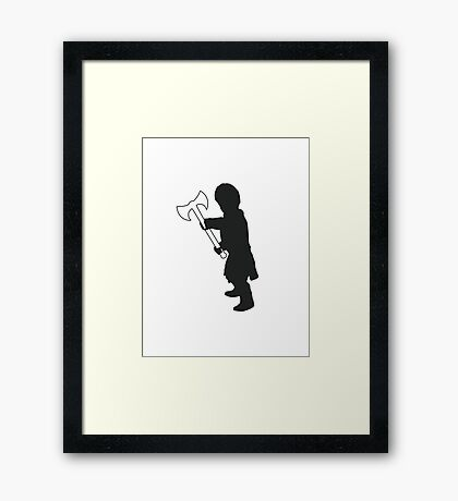 Tyrion Lannister Imp - Game of Thrones Silhouette Framed Print