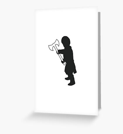 Tyrion Lannister Imp - Game of Thrones Silhouette Greeting Card