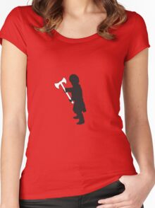 Tyrion Lannister Imp - Game of Thrones Silhouette Women's Fitted Scoop T-Shirt