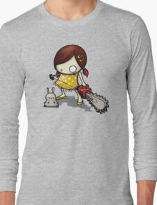 little Girl, rabbit and chain saw Long Sleeve T-Shirt