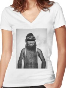 Zombie J Women's Fitted V-Neck T-Shirt