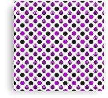 Purple Ladybugs Canvas Print