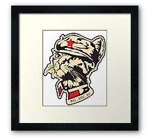 Chairman Meow Snr - Just the face! Framed Print