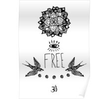 Free - Line Drawing Poster