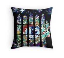 Window of St Peter's Anglican Cathedral, North Adelaide Throw Pillow