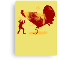 Attack of the Giant Rooster Canvas Print