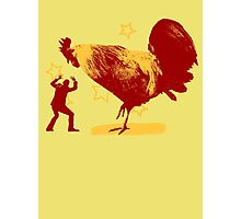 Attack of the Giant Rooster Photographic Print