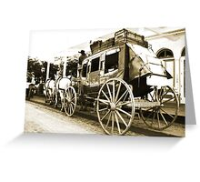 Wells Fargo Stage Coach Greeting Card