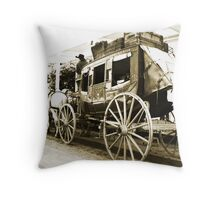 Wells Fargo Stage Coach Throw Pillow