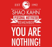 Shao Kahn Personal Motivator by Gabriele Scattolini