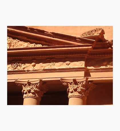 Detail of the Treasury at Petra Photographic Print