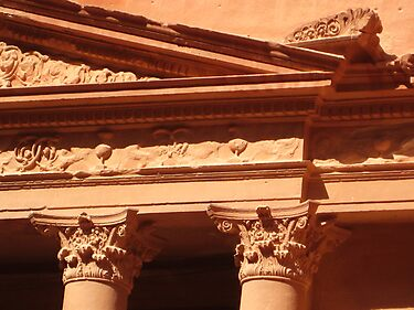 Detail of the Treasury at Petra by Dan Broome