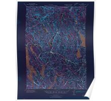 Maine USGS Historical Map Poland 306723 1940 62500 Inversion Poster