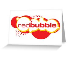 Red Bubble Logo Greeting Card