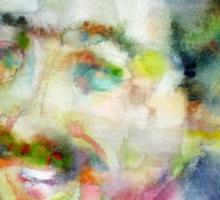 LANGSTON HUGHES - watercolor portrait Sticker