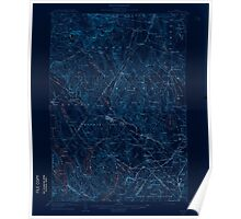 Maine USGS Historical Map Poland 460755 1908 62500 Inversion Poster