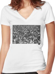 Concert People Women's Fitted V-Neck T-Shirt