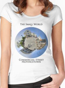 The Small World of Commercial Street, Provincetown Women's Fitted Scoop T-Shirt