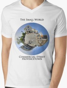 The Small World of Commercial Street, Provincetown Mens V-Neck T-Shirt
