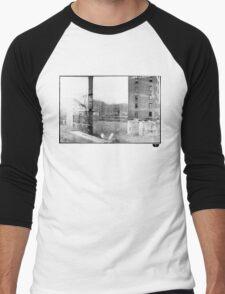 photo fade building Men's Baseball ¾ T-Shirt