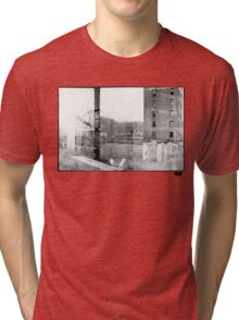 photo fade building Tri-blend T-Shirt