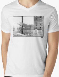 photo fade building Mens V-Neck T-Shirt