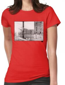 photo fade building Womens Fitted T-Shirt