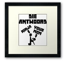 Unofficial Die Antwoord Merch (US Version) Framed Print