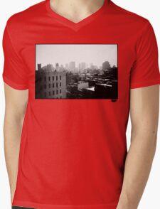 cityscape Mens V-Neck T-Shirt