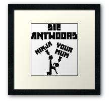 Unofficial Die Antwoord Merch (UK) Framed Print