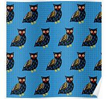 Folksy Owl Poster