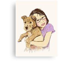 Peanut and Yana Canvas Print