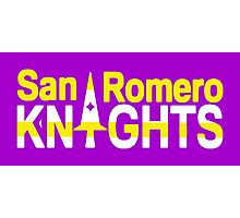 San Romero Knights Photographic Print
