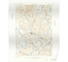 Maine USGS Historical Map Poland 460758 1908 62500 Poster
