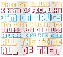 Scott Pilgrim is On Drugs Poster