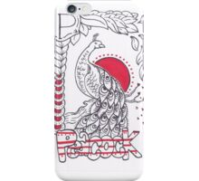 P is for Peacock iPhone Case/Skin