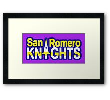 San Romero Knights With Purple Outline Framed Print