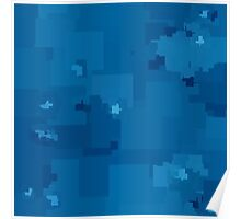 Methyl Blue Square Pixel Color Accent Poster