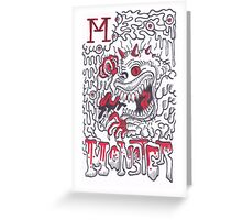 M is for Monster Greeting Card