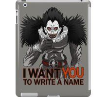 Write a name. iPad Case/Skin
