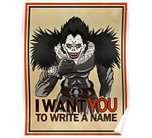 Write a name. Poster
