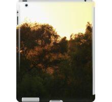 trees in the light of a sunset - arboles en la luz de una puesta del sol iPad Case/Skin