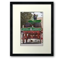 Unicorn Brewery Cart Framed Print