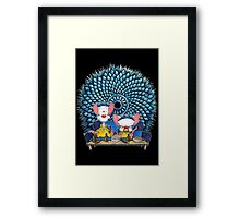 Pinkman and the Brain Framed Print