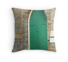 Church Door, Millthorpe Anglican Church Throw Pillow