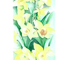 Daffodils out of the picture by Annartist2015