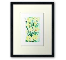 Daffodils out of the picture Framed Print
