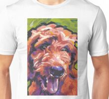Red Golden Doodle Dog Bright colorful pop dog art Unisex T-Shirt
