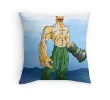 dreams and nightmares: earthquakes, volcanos, tidal waves, and shark monsters... oh no!! Throw Pillow