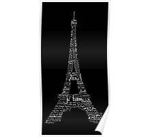 Typographic Eiffel Tower Poster